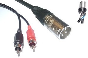 Câble Audio XLR RCA - 231165